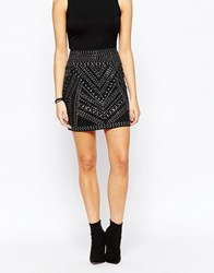Oasis Stud Mini Skirt Black