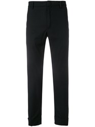 Paolo Pecora Tapered Chino Trousers Black