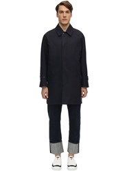 Mackintosh Reversible Cotton And Wool Coat Ink Blue