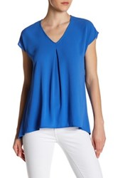 Spense Cap Sleeve Pleat Blouse Blue