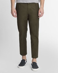 Obey Dark Khaki Latenight Ii Satin Chinos