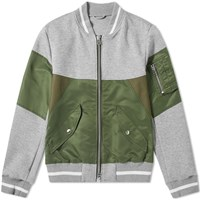 Sophnet. Fabric Mix Bomber Jacket Grey