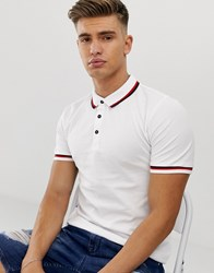 Only And Sons Tipped Polo In White