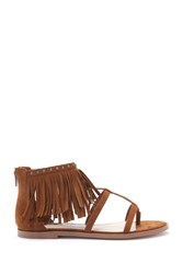 Forever 21 Fringe Caged Sandals Tan