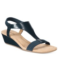 Alfani Vacanzaa Wedge Sandals Only At Macy's Women's Shoes New Navy