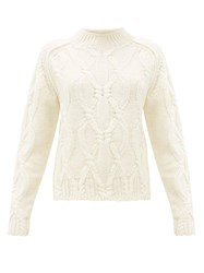 Acne Studios Kannick Cable Knit Wool Sweater Ivory