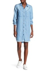 Beach Lunch Lounge Chambray Shirt Dress Blue