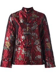 For Restless Sleepers Quilted Duffle Jacket Red