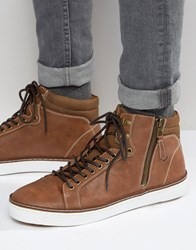 Call It Spring Eteilla Mid Trainers Tan