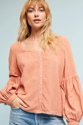 Anthropologie Marjani Blouse Coral