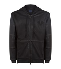 True Religion Full Zip Horseshoe Hoodie Male Black