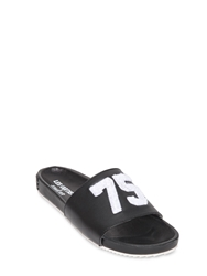 Les Art Ists X Swear Smooth Leather Sliders Black