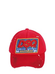 Dsquared Dsq Patch Cotton Canvas Baseball Hat