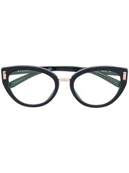 Bulgari Side Stud Oval Glasses Acetate Metal Black