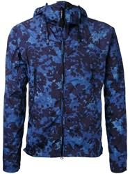C.P. Company Cp Camouflage Hooded Jacket Blue