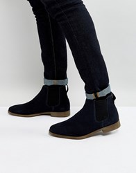 Kg By Kurt Geiger Guildford Chelsea Boot In Navy Suede Blue