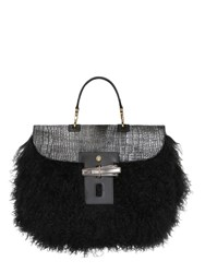Trussardi Ponyskin And Mongolian Fur Bag For Lvr