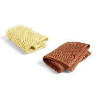 Hay Waffle Dish Cloth Set Of 2 Terracotta Yellow