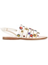 Tory Burch Marguerite Flat Sandals White