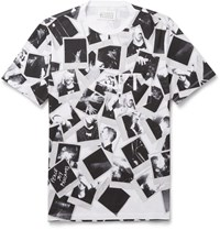 Maison Martin Margiela Slim Fit Printed Cotton T Shirt Black