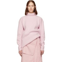 Sies Marjan Pink Merino Wool Felted Turtleneck