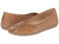 Naturalizer Kana Ginger Snap Leather Women's Flat Shoes Pink