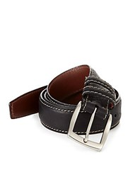 Saks Fifth Avenue Collection Bison Belt Black