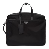 Prada Black Convertible Work Briefcase