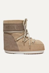Moon Boot Coated Suede Snow Boots Sand