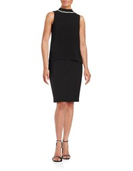 Eliza J Embellished Neck Shell Black