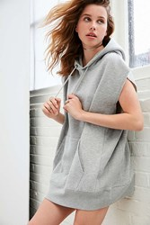 Silence And Noise Sleeveless Hoodie Sweatshirt Tank Top Grey