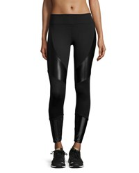 Koral Forge Contrast Panel Sport Leggings Black