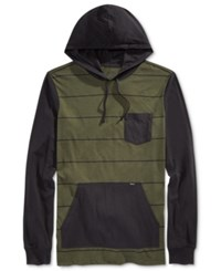 Rvca Men's Set Up Hoodie Forest