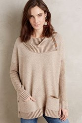 Anthropologie Brindley Cashmere Cowlneck Moss