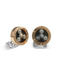 Deakin And Francis Sun Planet Rose Golden Gear Cuff Links Unassigned