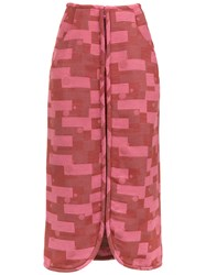 Lilly Sarti Fleur Jacquard Skirt Pink And Purple