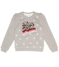 Little Marc Jacobs Embroidered Cotton Sweatshirt Grey