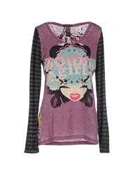 Custo Barcelona Topwear T Shirts Women Mauve