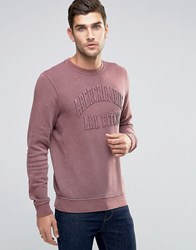 Abercrombie And Fitch Sweatshirt Washed Burgundy In Muscle Slim Fit Burgundy Red
