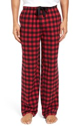 Nordstrom Men's Big And Tall Men's Shop Flannel Lounge Pants Red Black Buffalo Check