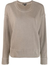 James Perse Round Neck Sweater Brown