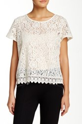 Romeo And Juliet Couture Lace Blouse Beige