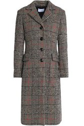 Sandro Prince Of Wales Checked Wool Blend Coat Sand