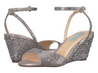 Blue By Betsey Johnson Elora Silver Wedge Shoes