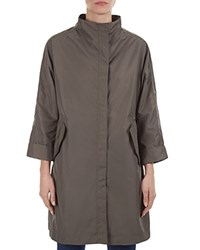 Gerard Darel Bambou Funnel Neck Trench Coat Green