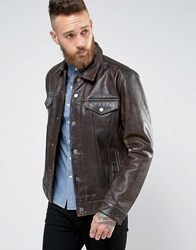 Levi's Levis Leather Trucket Jacket Buff Rustic Buff Rustic Brown