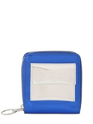 Mm6 Di Maison Margiela Laminated Faux Leather Zip Around Wallet