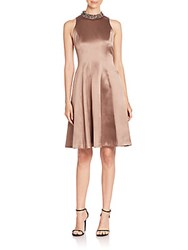 Kay Unger Solid Fit And Flare Dress