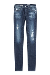 Ag Adriano Goldschmied Distressed Straight Leg Jeans Gr. 24