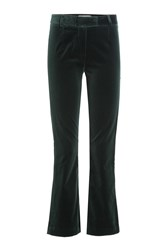 Frame Denim Cropped Velvet Pants Green